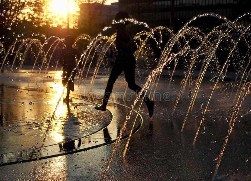 O ` s de Cleveland renovou a praça pública - OHIO - EUA foto de stock