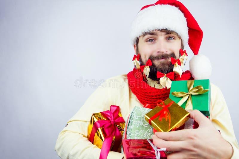O ` s de Santa decorou a barba imagem de stock