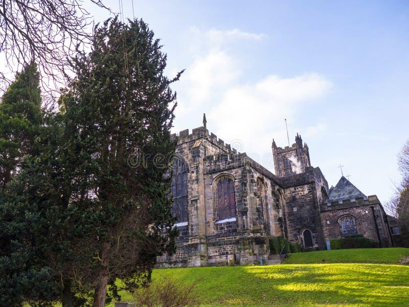 O ` s de St Mary, igreja do convento de Lancaster é próximo pelo castelo acima da cidade em Inglaterra fotos de stock royalty free