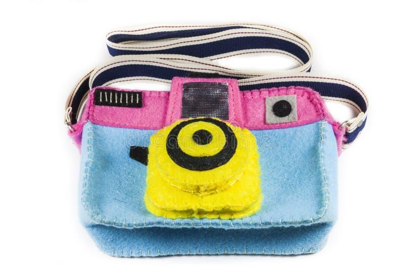 O saco da câmera é colorido fotografia de stock royalty free