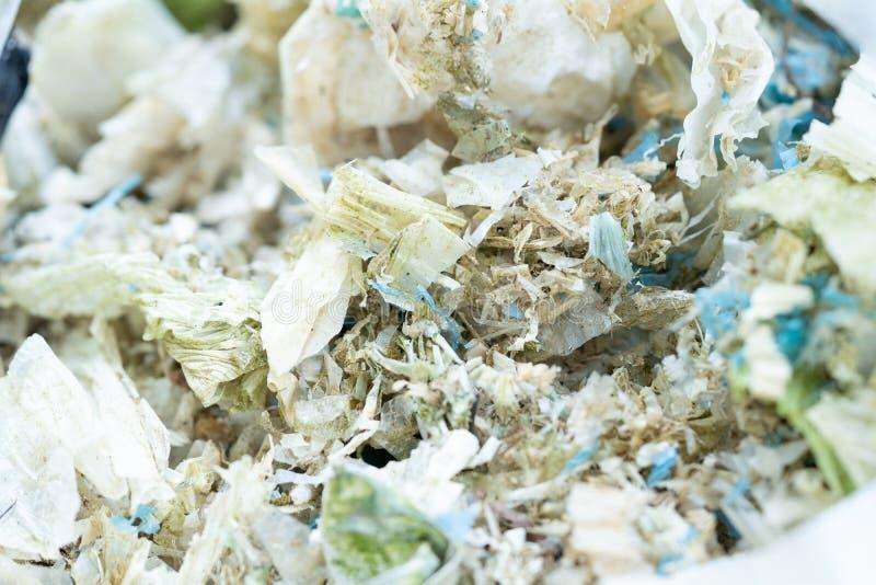 O saco de pl?stico desperdi?a a degrada??o para reciclado imagens de stock