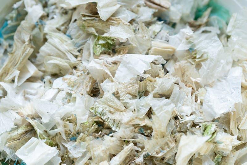 O saco de pl?stico desperdi?a a degrada??o para reciclado fotos de stock