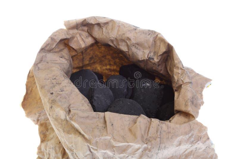 Download O Saco, Saco Isolou O Carvão, Pepitas Do Carbono Foto de Stock - Imagem de branco, brilhante: 26519750