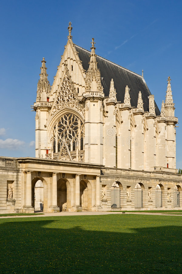 O Sainte-Chapelle (capela santamente) foto de stock royalty free