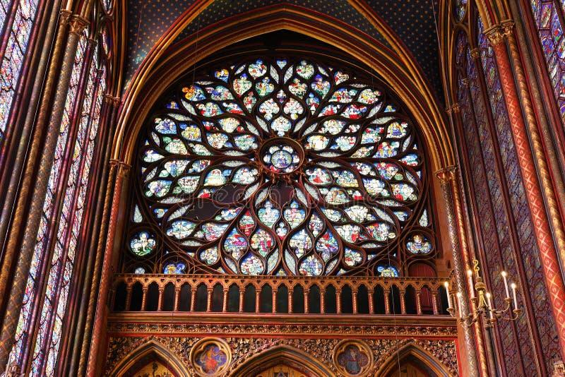 O Sainte Chapelle Holy Chapel em Paris, França fotos de stock royalty free