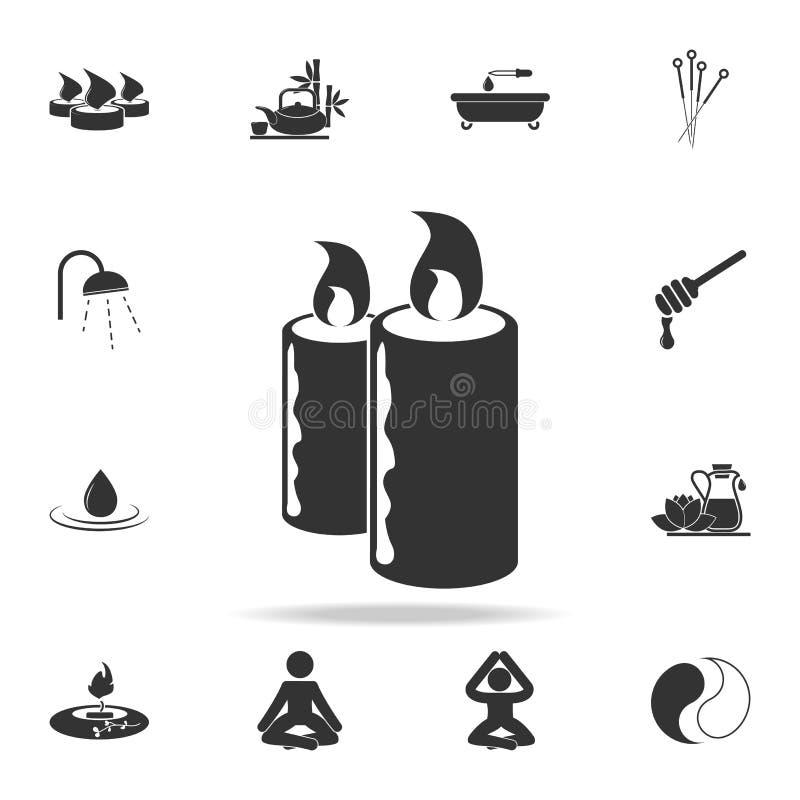 O salão de beleza dos termas candles o ícone Grupo detalhado de ícones dos TERMAS Projeto gráfico da qualidade superior Um dos íc ilustração royalty free