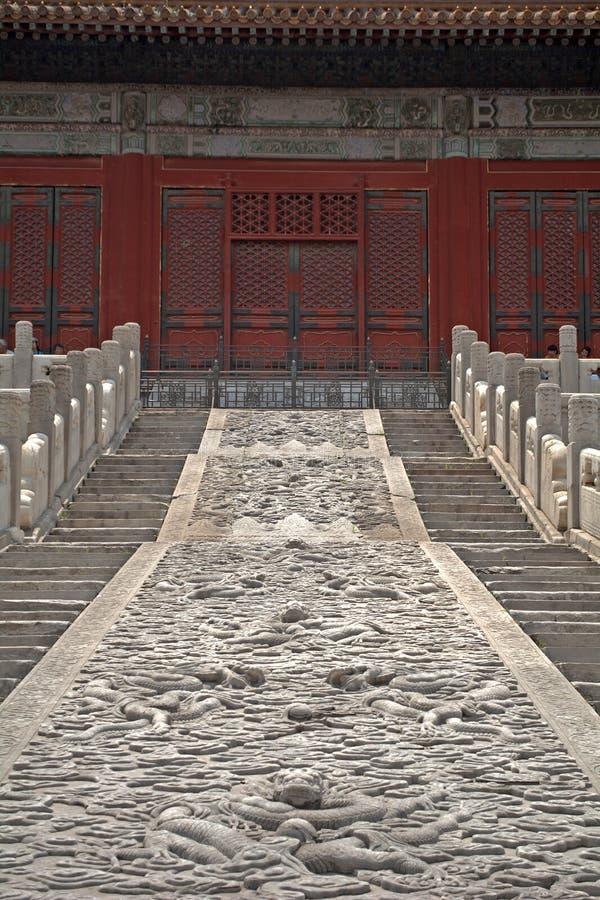 O Salão de preservar a harmonia na Cidade Proibida, Pequim, C foto de stock