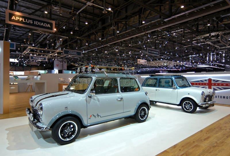 89.o salón del automóvil internacional de Ginebra - David Brown Automotive - Mini Remastered imágenes de archivo libres de regalías