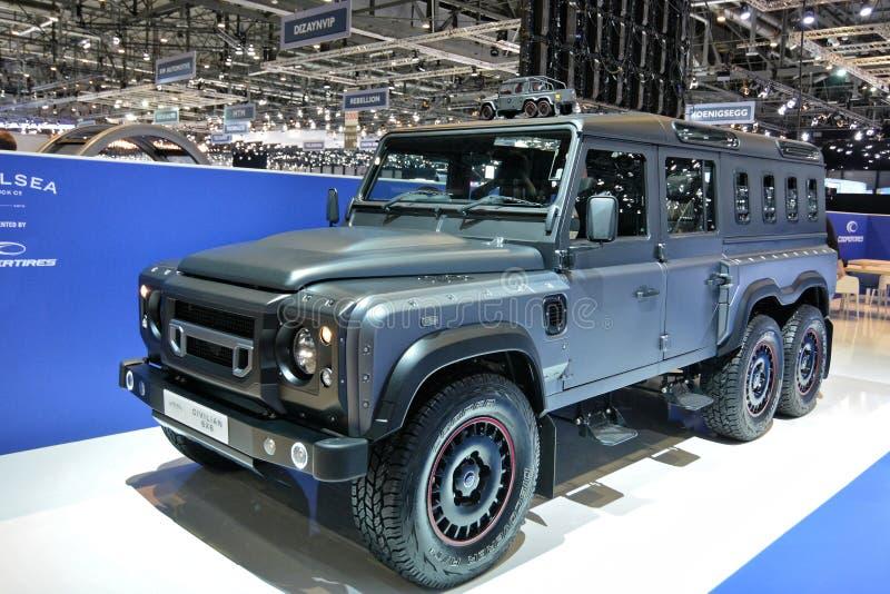 88.o salón del automóvil internacional 2018 de Ginebra - defensor de Chelsea Truck Company Civilian 6X6 foto de archivo libre de regalías