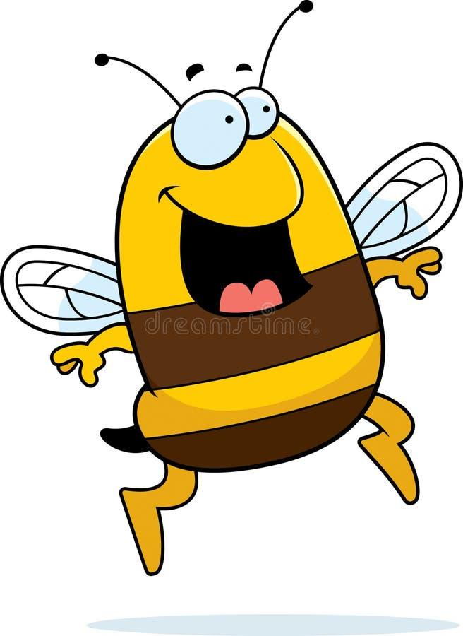 O salto da abelha ilustração do vetor