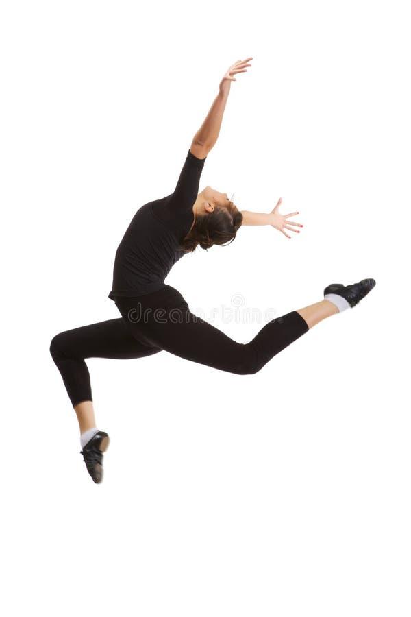 O salto da bailarina imagens de stock