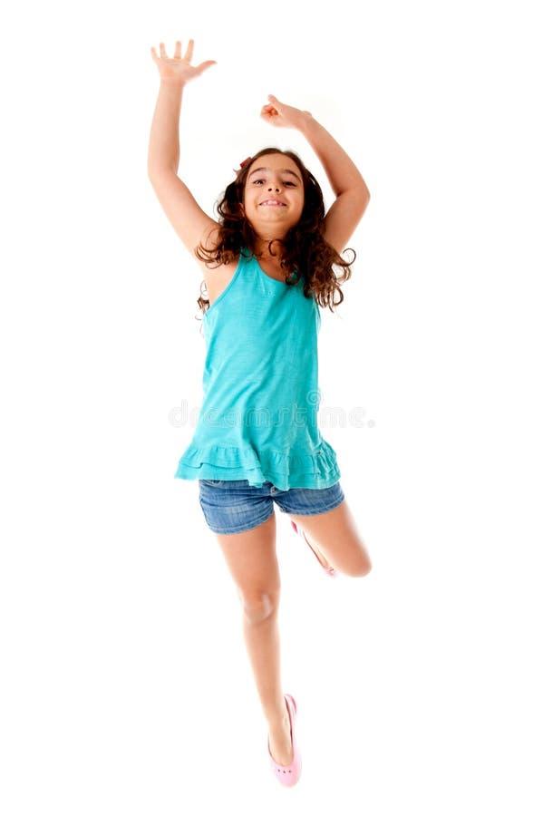 O salto da criança foto de stock royalty free