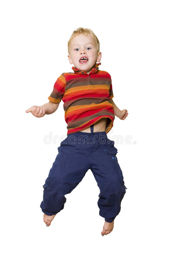 O salto da criança imagem de stock royalty free