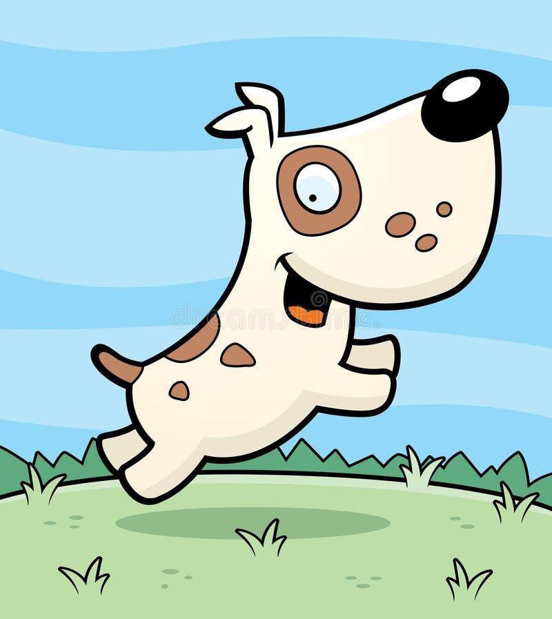 O salto do cão ilustração royalty free