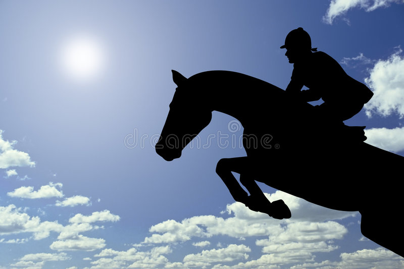 O salto do cavalo ilustração stock