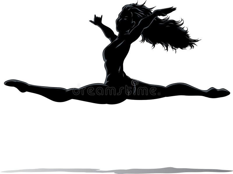 O salto do dançarino ilustração royalty free