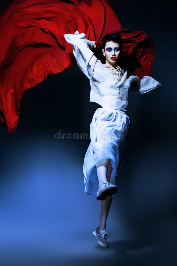 O salto do desfile de moda foto de stock