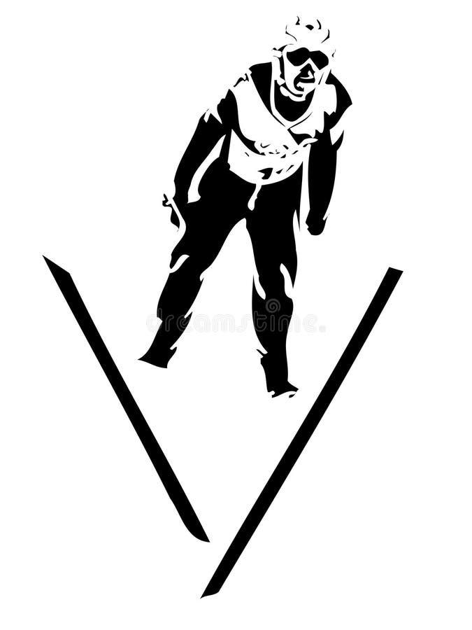 O salto do esquiador ilustração do vetor