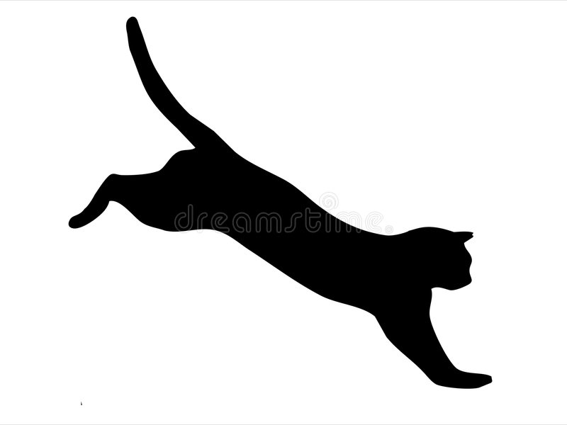 O salto do gato ilustração royalty free