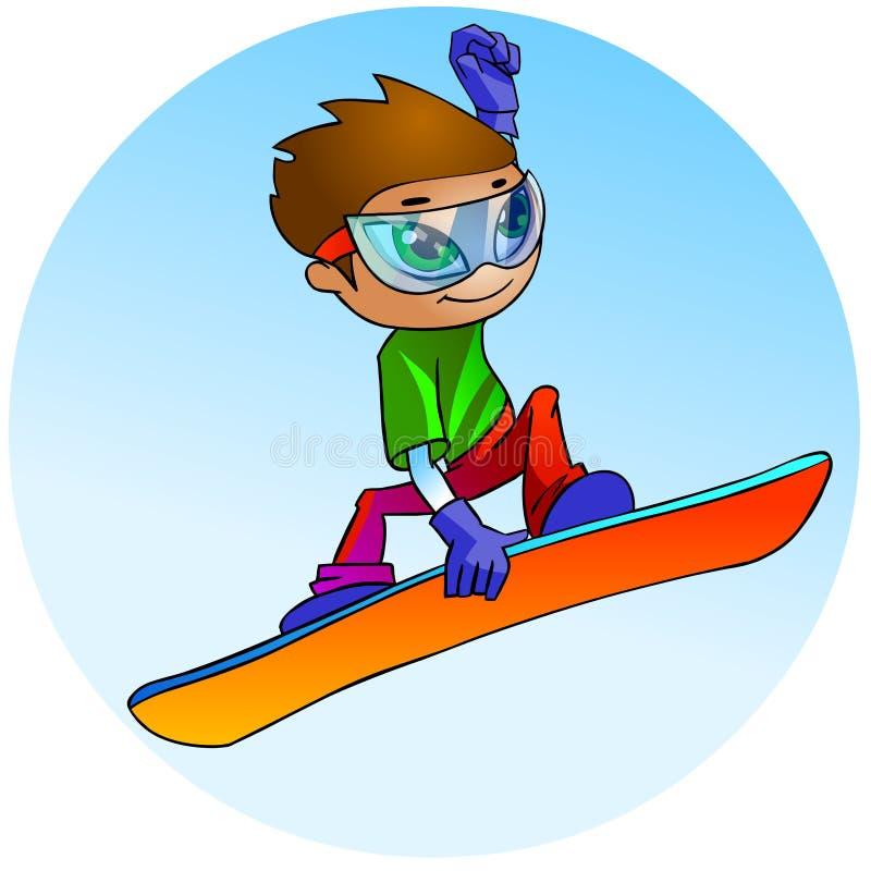 O salto do Snowboarder ilustração stock