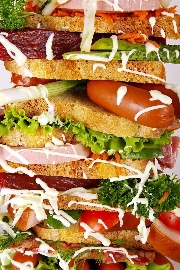 O sanduíche saboroso foto de stock royalty free