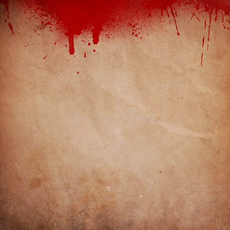 O sangue chapinhou o fundo do grunge ilustração do vetor