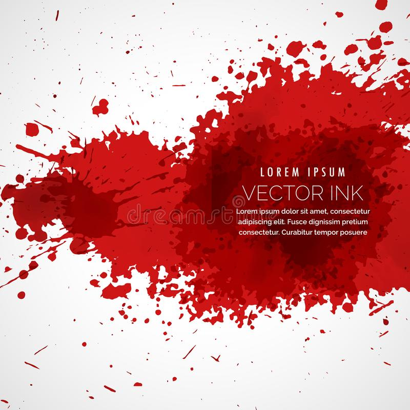 o sangue do vetor chapinha o fundo da mancha ilustração royalty free