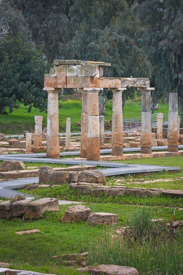 O santuário de Artemis em Brauron foto de stock