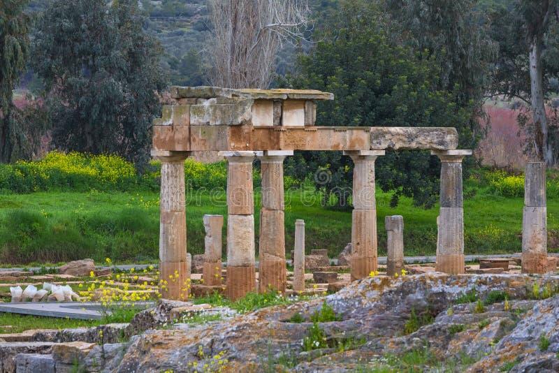 O santuário de Artemis em Brauron fotos de stock royalty free