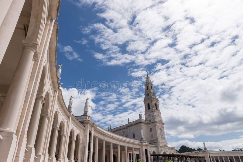 O santuário de Fatima, Portugal foto de stock