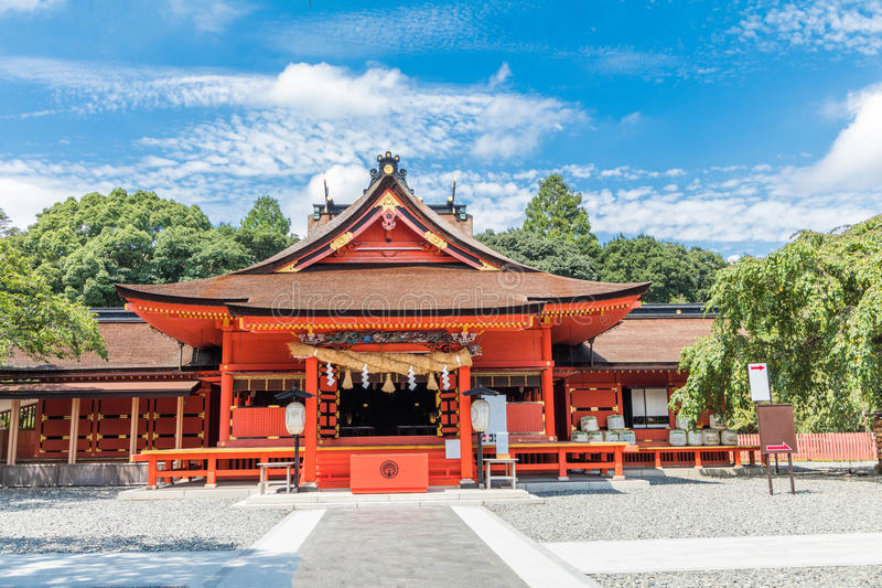 O santuário de Fujisan Sengen era um do santuário o maior e o mais grande imagens de stock royalty free