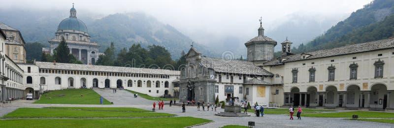 O santuário de Oropa em Itália, herança do Unesco fotografia de stock
