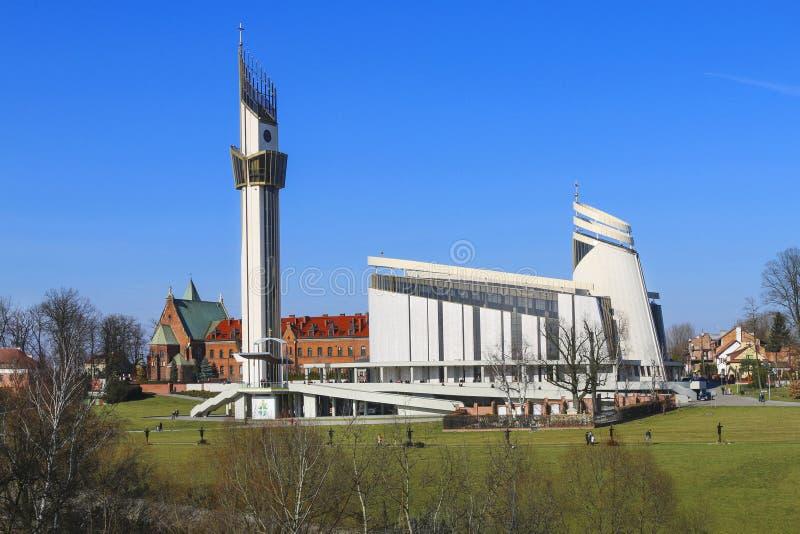 O santuário divino da mercê, Krakow, Polônia imagem de stock royalty free
