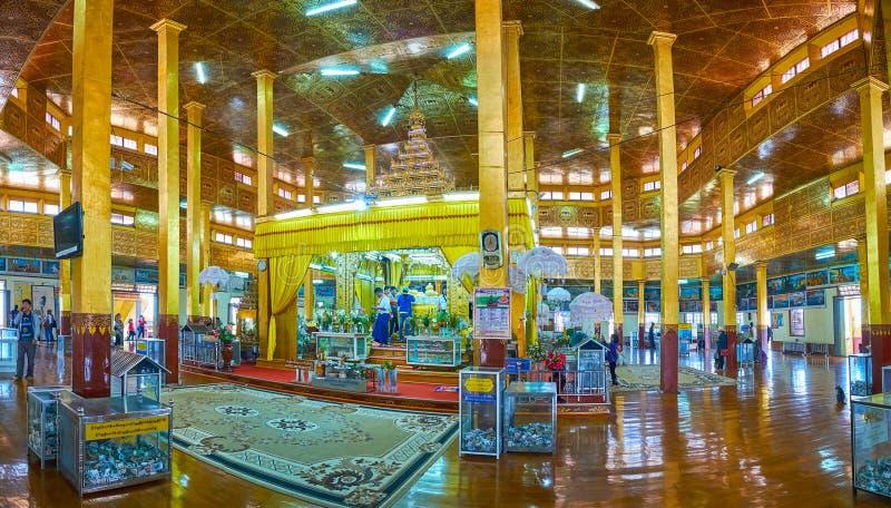 O santuário principal do pagode de Hpaung Daw U, lago Inle, Myanmar fotos de stock royalty free