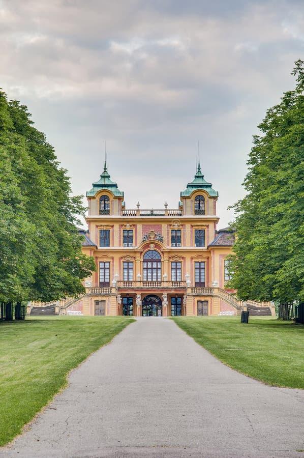 O Schloss favorito em Ludwigsburg, Alemanha foto de stock royalty free