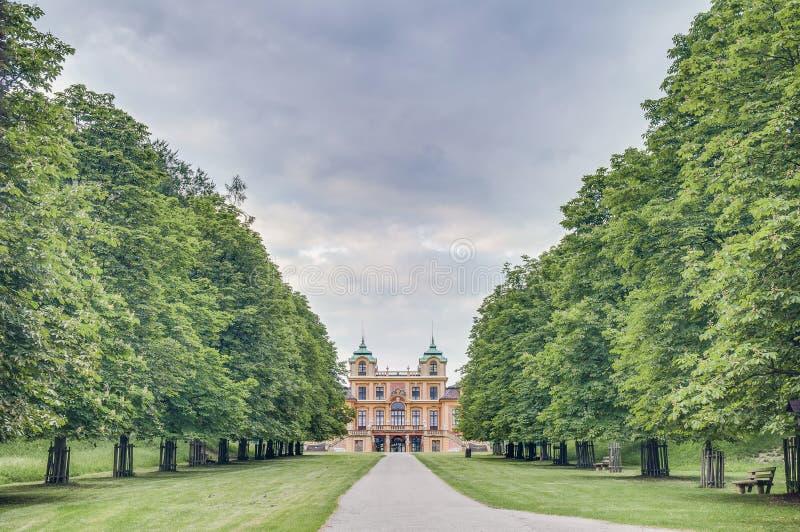 O Schloss favorito em Ludwigsburg, Alemanha fotografia de stock