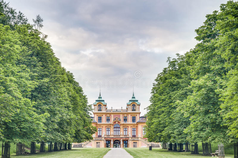 O Schloss favorito em Ludwigsburg, Alemanha imagens de stock