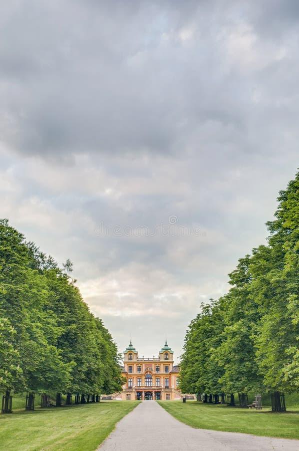 O Schloss favorito em Ludwigsburg, Alemanha fotografia de stock royalty free