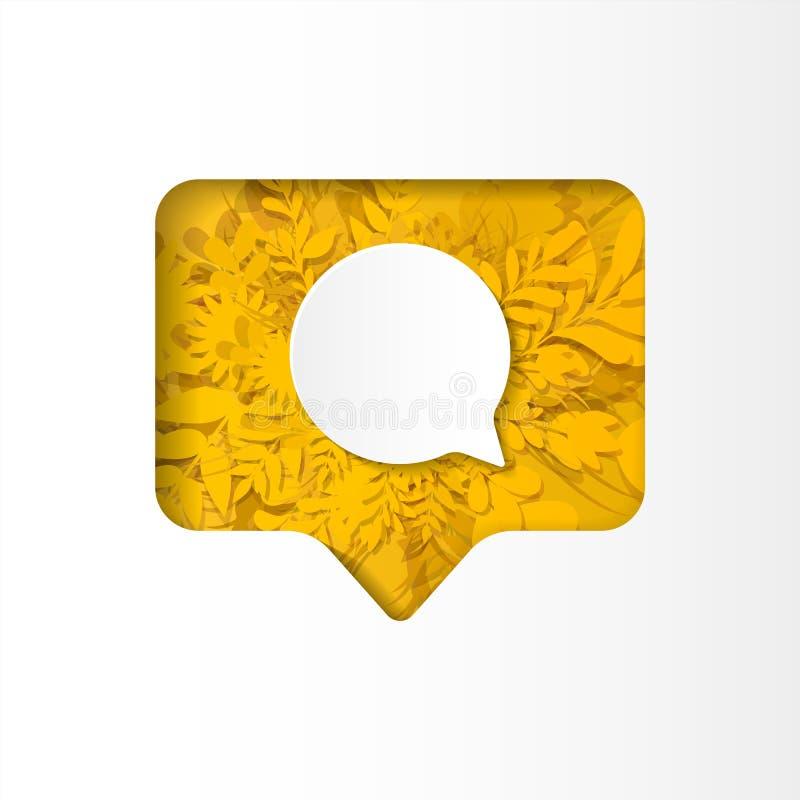 O seguidor social do ícone da rede, comentário novo, papel cortou o estilo ilustração do vetor