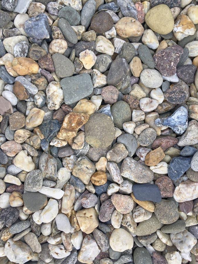 O seixo do rio apedreja em detalhe fotografia de stock royalty free