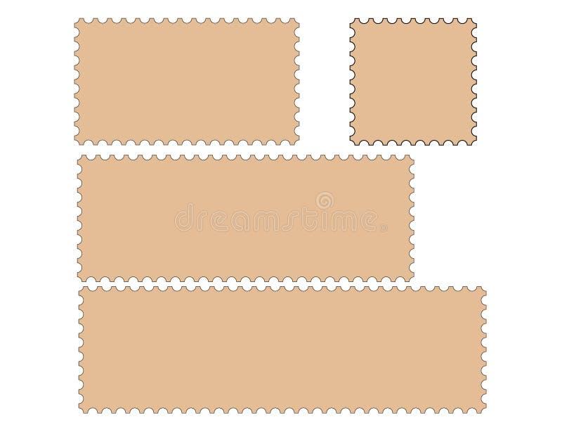 O selo de porte postal limita a coleção   ilustração stock