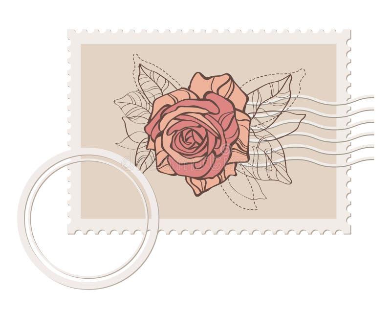 O selo em branco do borne de Prvector com levantou-se ilustração royalty free