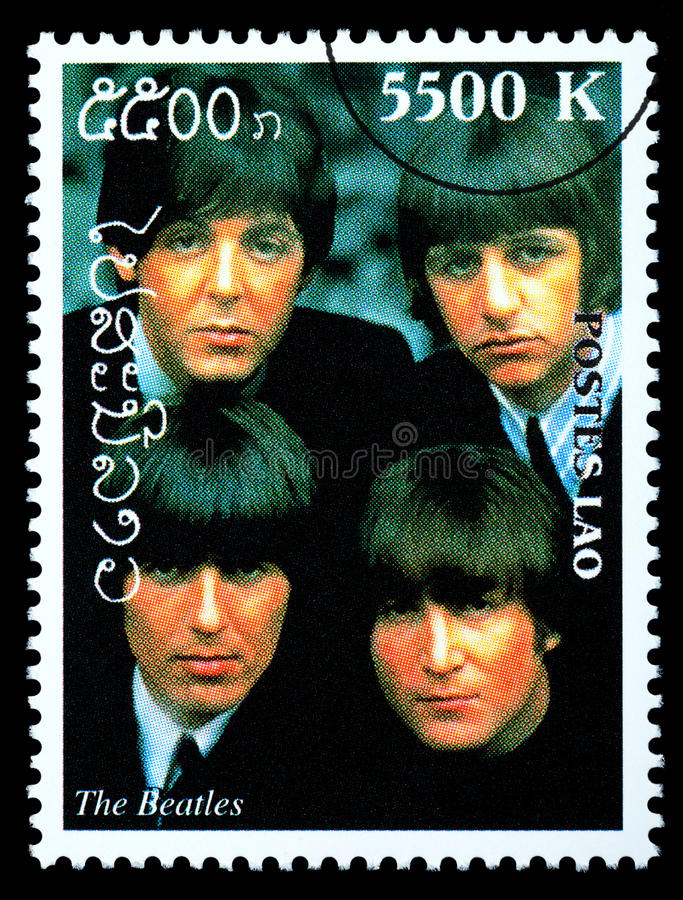 O selo postal de Beatles fotografia de stock royalty free