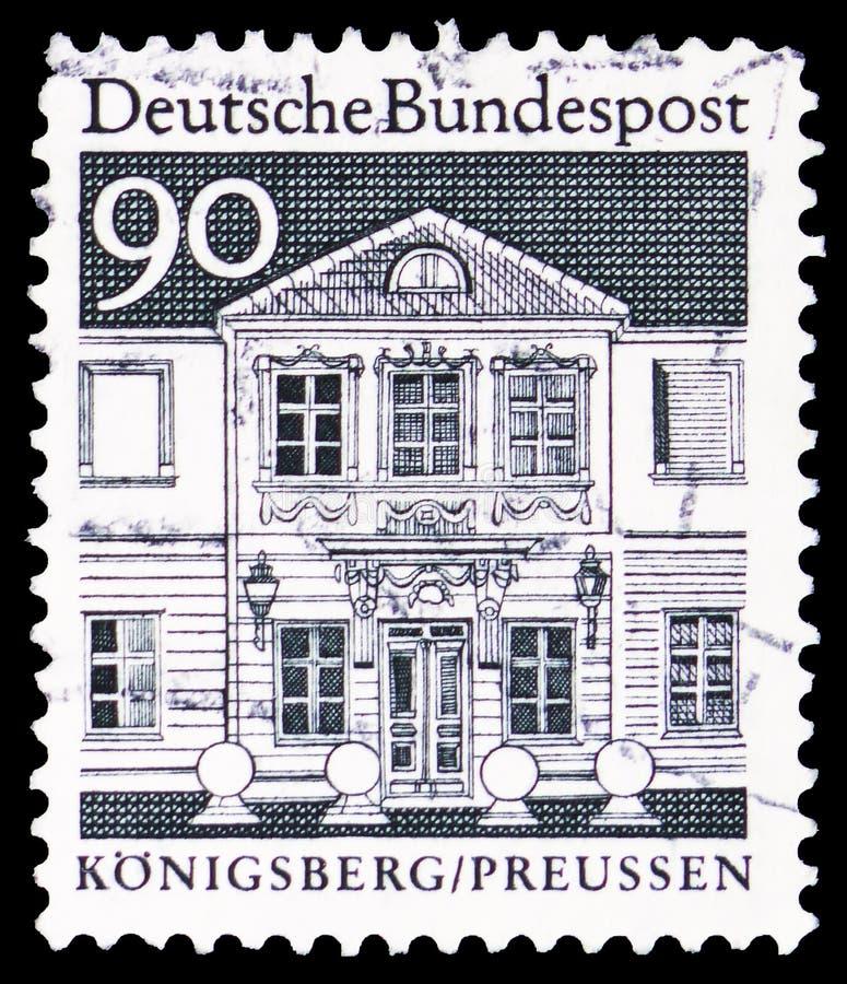 O seminário das mulheres de Zschokke, Königsberg/Preussen, Koenigsberg/Prússia, construções alemãs do serie de doze séculos, cer fotos de stock