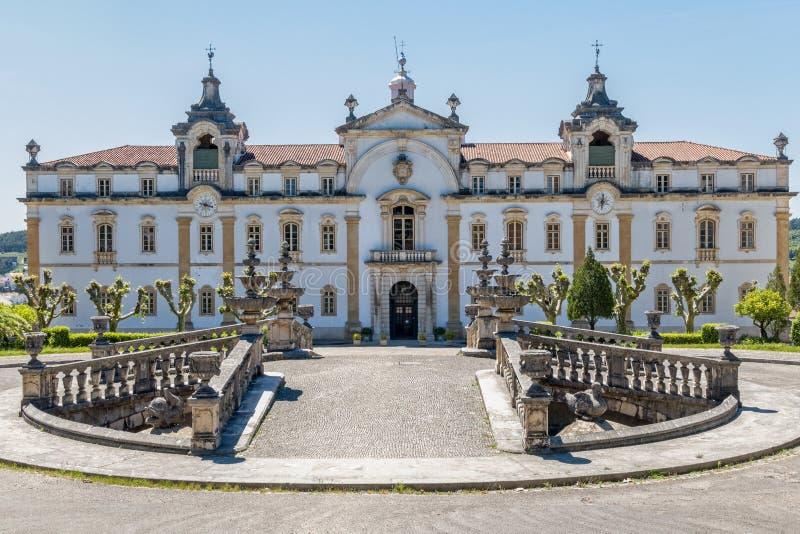 O seminário de Sagrada Familia em Coimbra, Portugal fotografia de stock
