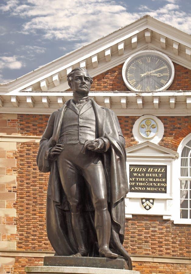 Estátua do senhor Robert Peel fotografia de stock royalty free