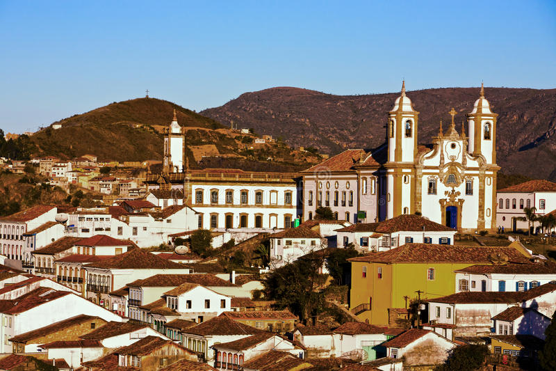 O senhora de De nossa faz a igreja Ouro Preto de Carmo imagem de stock