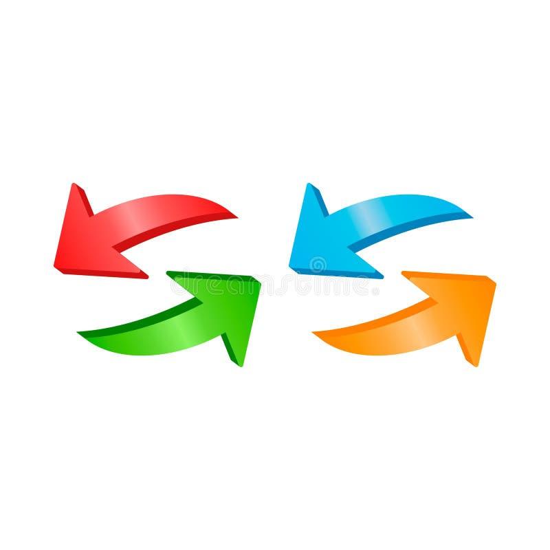 O sentido das setas dois do vetor recarrega o ícone 2 ilustração royalty free