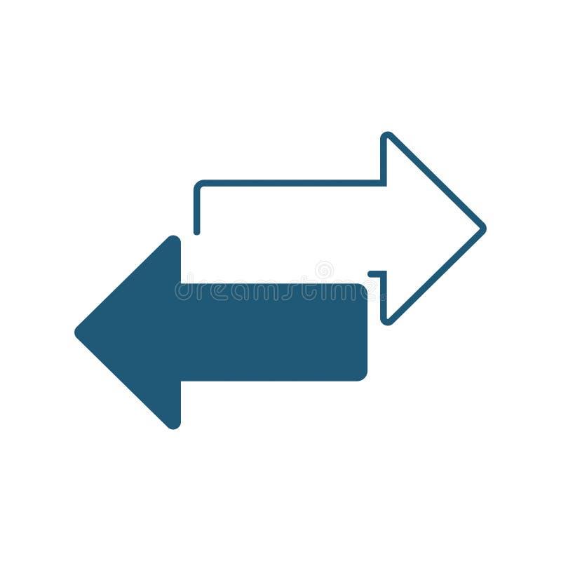 O sentido das setas dois do vetor recarrega o ícone 5 ilustração stock