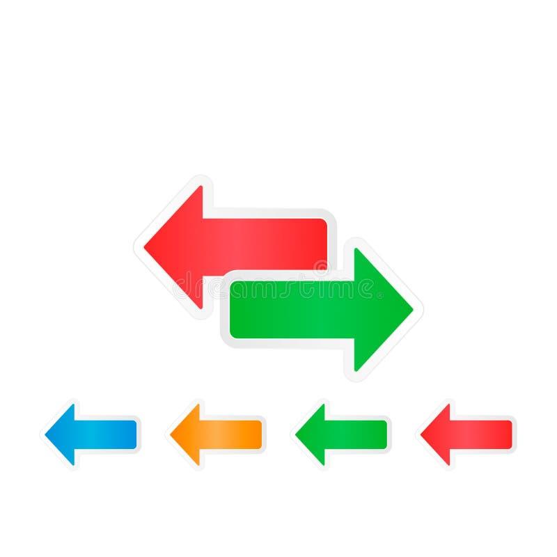 o sentido das setas dois do vetor recarrega o ícone 7 ilustração do vetor